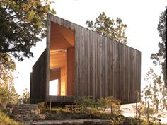 Building: Sauna in the Woods Architect: Panorama Location: Lago Ranco, Chile Why We Like This: Yesterday we posted a top 10 of our favorite saunas and baths . Architectural Digest, Chile, Sauna Design, Timber Structure, Small Buildings, Prefab Homes, Interior Architecture, Architecture Wallpaper, Building A House