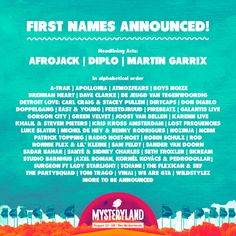 MYSTERYLAND The Netherlands announces first acts for 2016
