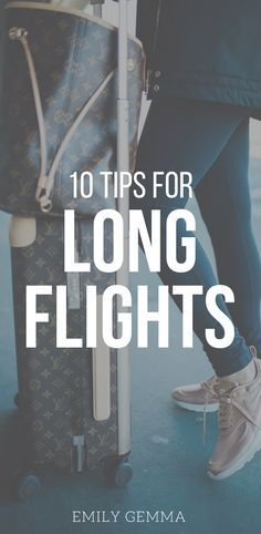 Okay! During our trip to Paris I was hit with SO many questions about our trip – how I endure the long flights, how we schedule flights, how I traveled pregnant & sick, etc. so I thought I'd share 10 of my personal tips for long flights as well as answer those questions! Emily Gemma Travels, Travel tips, Travel Blogger, Plan a trip. #traveltips #travelblogger #travelfashion.