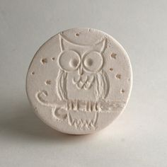 Owl on Tree Branch with Stars Stamp Clay Tool by GiselleNo5