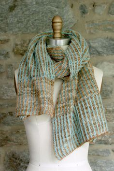 Brioche Knitting. Manos Churros Brioche Scarf/Shawl Knitting Pattern