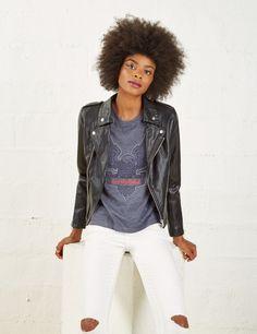 Veste biker noire femme • Jennyfer