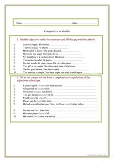 Nice Practice Worksheets For Adverb that you must know, Youre in good company if you?re looking for Practice Worksheets For Adverb Have Fun Teaching, Teaching Jobs, Teaching Reading, English Grammar Tenses, Basic Grammar, Adverbs Worksheet, Paragraph Writing, Reading Comprehension Worksheets, Printable Worksheets