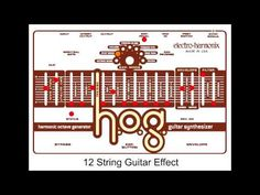 Totally polyphonic guitar synthesizer offering complete control of up to 10 interval pitches -- NO glitches and NO special pickup needed. 12 String Guitar, Pedalboard
