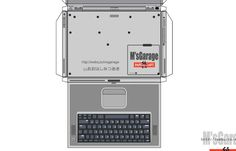 Powerbook G4 Template http://speckyboy.com/2011/04/08/40-amazing-papercraft-templates-for-the-geek-inside-you/