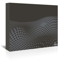 Americanflat Grey Ovals on Black by Armand Graphic Art on Wrapped Canvas Size: