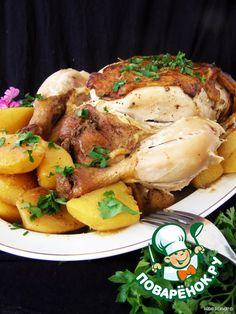 Ароматная курица с картофелем в мультиварке - кулинарный рецепт