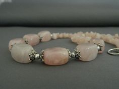 Rose Quartz Chunky Necklace  FREE SHIPPING by nmarzoladesigns, $25.00