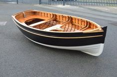 Traditional Wooden Clinker Rowing Boat8 #boat