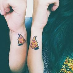Love You (Almost) As Much As I Love Pizza - Super Cute Matching Tattoo Ideas For You and Your Best Friend - Photos