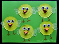 Cupcake Liner Chicks - So CUTE!!