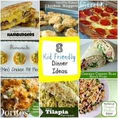 8 Kid Friendly Dinner Ideas that kids & parents will LOVE from The Best Blog Recipes!  #recipes #kidfriendlydinners #dinner
