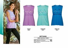 The Aero Muscle Tank brings the cool, urban look to the Realtree girl by showcasing the logo in a new, fun way. Features a lightweight, soft Poly-Rayon jersey and a figure flattering fit.