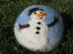 needle felted snowman - Google Search