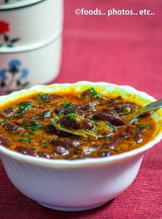 Spicy Red Kidney Beans Curry
