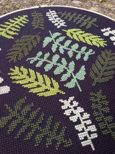 Ferns Modern cross stitch pattern PDF Instant by thestitchmill