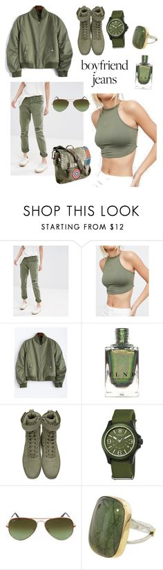 """Back to Basic"" by bellestar7 ❤ liked on Polyvore featuring Current/Elliott, WithChic, Fear of God, Swiss Army, Ray-Ban and Marvel"