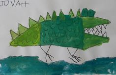 just organizing last year's art.  A is for ALLIGATOR