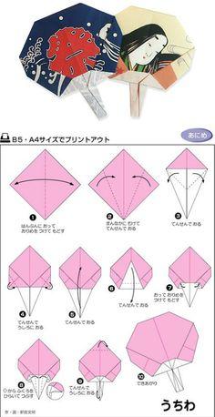 扇子 Bellissimo ventaglio origami!