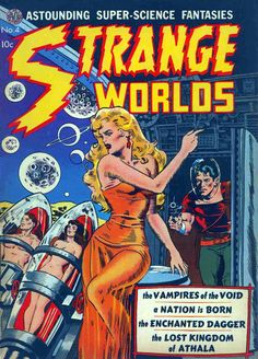 Classic Wally Wood cover to Strange Worlds #4, published by Avon Periodicals, September 1951.