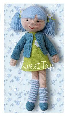 Sweet Lisa, Gehäkelte Puppe von Sweet Toys auf DaWanda.com