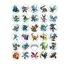 30 Skylanders Edible Image Wafer Paper Cupcake Cup Cake Toppers *** Be sure to check out this awesome product.