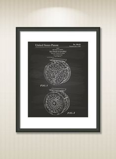 Reel For Fly Fishing 1974 Patent Art Illustration  by TawerArt