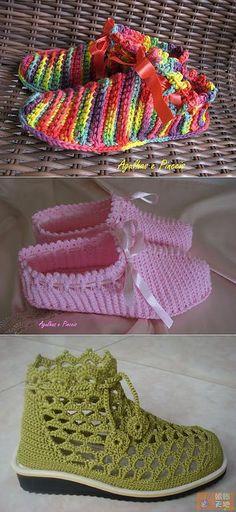 Вязаная обувь | Записи в рубрике Вязаная обувь | Дневник Вязание для детей | утепляем ножки | Постила Crochet Boots, Crochet Slippers, Crochet Clothes, Crochet Quilt, Crochet Baby, Knit Crochet, Knit Shoes, Sock Shoes, Crochet Slipper Pattern
