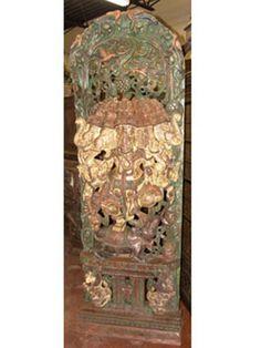 Five Head Panchmukhi Ganesha Statue Ganesh Wood Carving Sculpture | eBay
