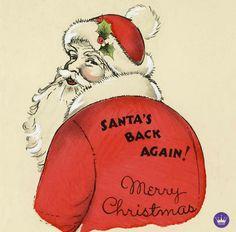 Hallmark Cards, Merry Christmas, Christmas Ornaments, December 25, Tis The Season, Reindeer, Santa, Seasons, Holiday Decor