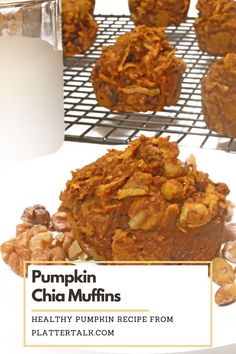 Make this healthy muffin recipe with chia seeds and pumpkin today. Be sure to follow all of our boards!