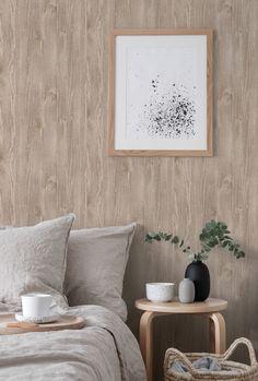 Diseño 7700/2 REDESCUBRIENDO LA MADERA Desde lejos o de cerca, el revestimiento de papel madera vinílico texturado agrega profundidad e integridad a su experiencia interior. Su superficie aporta calidez y estilo a su hogar, creando un acento decorativo en una sala de estar, dormitorio o estudio. Está diseñado para simular la apariencia de las especies mas bellas de los árboles, como álamo, roble, fresno, castaño, ébano. #empapela #empapelados #muresco #argentina #coleccion #walcovering…