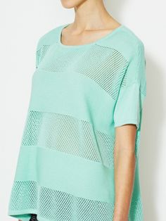Mixed Stitch Drop Shoulder Sweater by Avaleigh at Gilt