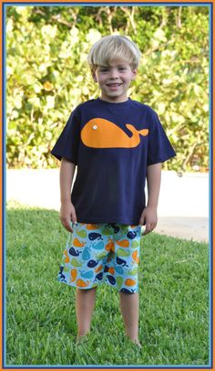 Boys Whale Shorts Shirt Outfit Sibling Summer Beach Vacation Boutique Custom Maddie Kate on Etsy, $30.00