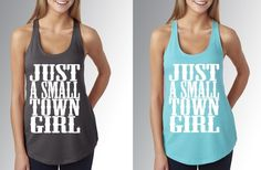 Just A Small Town Girl Tank - Up to XL! - Main Photo