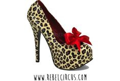 Rockabilly style, leopard print, heels