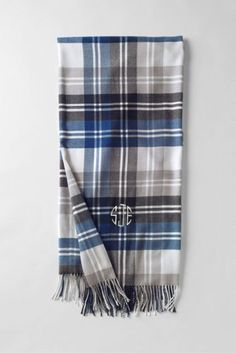 CashTouch Patterned Throw from Lands' End