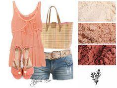 Younique Pigments, Summer shorts, sandals, top, and handbag www.youniqueproducts.com/jenniferebbs
