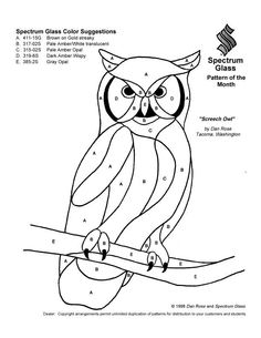 Stained Glass Patterns for FREE 031 Owl.jpg: