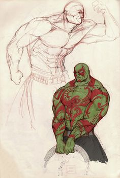 Drax concept by Lapo Roccella on ArtStation.
