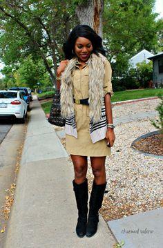 How to wear a fur vest: 3 ways (fur vest with a dress!)