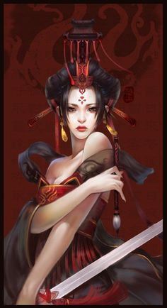 Form of Fonts Picture  (2d, fantasy, illustration, chinese, queen, beauty, classic)