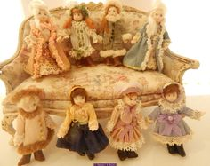Tiny dolls  by Les Miniatures de Béatrice Dolls For Sale, Tiny Dolls, French Lace, Miniature Dolls, Make And Sell, French Antiques, History, Painting, House