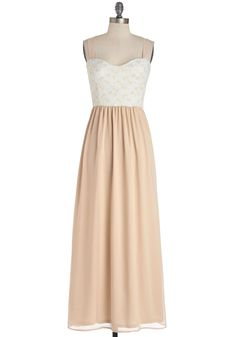 Bridesmaid dress - champaign/beige.  Almond I Ever Wanted Dress | Mod Retro Vintage Dresses | ModCloth.com
