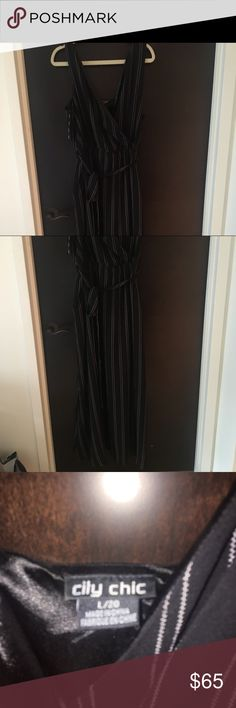 Long black dress. Never been worn Long black dress. Never been worn City Chic Dresses Maxi