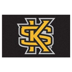 efca517a8e3 Ncaa Kennesaw State University Black 5 ft. x 8 ft. Area Rug Round Area