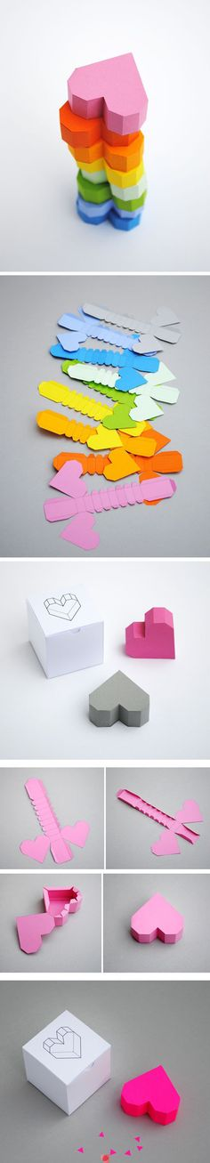 DIY paper heart box.