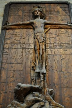 František Bílek house-museum, Prague, Czech Republic, by Lisa Rocaille Prague Czech, Epoch, Czech Republic, Lion Sculpture, Lisa, Museum, Culture, Statue, House