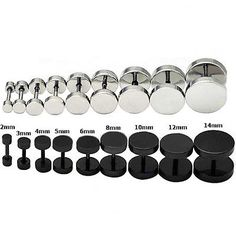 New-Round-Barbell-Stainless-Steel-Screw-Back-Mens-Earring-Ear-Studs-3-14mm-USA