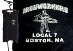 80's Local 7 IRONWORKERS BOSTON Massachusetts Muscle Shirt Sleeveless, Size Large by WedgeHeadTs on Etsy